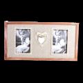 """Рамка для 2 фото """"Сердце с кружевами!"""" (10х15 см.)"""