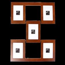 """Рамка для фото """"Стенка"""" на 5 фото (10х15 см.)"""