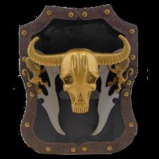 Геральдика сувенирная, на щите череп быка