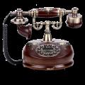 Ретротелефон круглый классический
