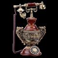 Ретротелефон с коваными барельефами