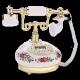 Ретротелефон с цветами