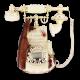 Ретротелефон с нотами и со скрипкой