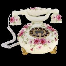 """Ретротелефон с лепкой """"Цветы"""""""