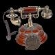 Ретротелефон круглый с рисунком