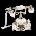 """Ретротелефон """"Белый кракелюр"""""""